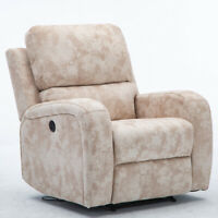 POWER RECLINER ELECTRIC CHAIR LOUNGE SOFA SOFT SEAT USB PORT RECLINING SUEDE