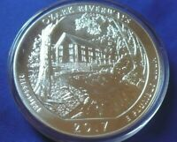 2017 Ozark Riverways 5 oz .999 Silver America the Beautiful ATB Coin in capsule