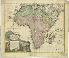 Antique Map of Africa by Haas (1737)