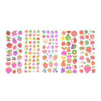 5 Sheets Cute Cartoon Fruits Scrapbooking Bubble Puffy Sticker Reward Kid Toy BR
