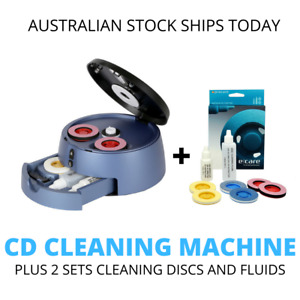 CD DVD Cleaning Polish Repair Machine  2 Sets Polishing Discs and Fluid Cleaner