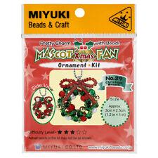 Miyuki Beaded Mascot Fan Kit | No.39 Christmas Wreath (R22/3)