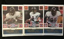 1986 McDonald's Football Chicago Bears Complete Set (Blue Tab)