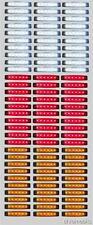 90pcs BLANCO-ROJO NARANJA 12v 6 LED Lateral Trasero Marcador DAF MAN SCANIA