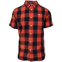 Primitive Men's Cherry Lightweight Buffalo S/S Woven Shirt (Retail $51.95)