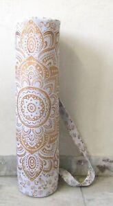 Flower Mandala Yoga Mat Carrier Bag Gym Fittnes Exercise Bag With Shoulder Strap