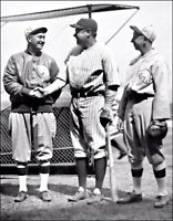Babe Ruth Ty Cobb Eddie Collins Photo Large 11X14 - Yankees Athletics A's 1927