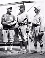 Babe Ruth Ty Cobb Eddie Collins Photo Large 11X14 - Yankees Athletics A's 1927
