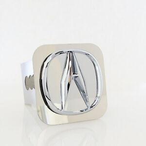 Acura Logo Tow Trailer Hitch Cover Plug (Chrome)