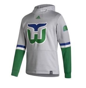 HARTFORD WHALERS ADIDAS REVERSE RETRO PULLOVER HOODIE SIZE SMALL