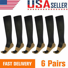 Copper Fit 6 Pairs Compression Socks Running Medical 20-30 mmHG Foot Pain Relief