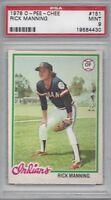 1978 OPC baseball card #151 Rick Manning, Cleveland Indians PSA 9 MINT