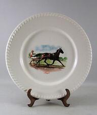 ASSIETTE faience, Amyot, cheval n°5, course hippique, jockey, années 70