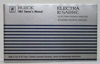 1981 Buick Electra LeSabre Estate Wagon Owners Operators Manual Original