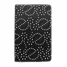 "CASE FOR GOOGLE NEXUS 7 7"" GLITTER BLACK DIAMOND BLING PU LEATHER COVER"