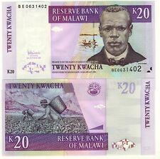 MALAWI Billet neuf de  20 KWACHA Pick 52d  RECOLTE AUX CHAMPS  2007