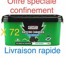 LOT 72 SACHETS PATE RATICIDE FOUDROYANTappétence pour rat et souris Caussade