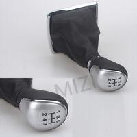 5 Speed Gear Stick Shift Knob Gaiter Gaitor Boot for Ford Focus MK2 MK3 Silver