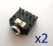 2x Connecteur à souder Jack 3,5mm audio femelle/ 2x Female Jack connector 5 pins