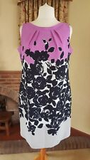 NAVY LILAC SLEEVELESS DRESS FROM M&S SIZE 18 - NEW