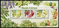 Australia 2019 MNH Bush Citrus Fruits Lime Lemon 3v M/S Plants Nature Stamps