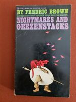 NIGHTMARES AND GEEZENSTACKS by Fredric Brown - 1962 PB 1st - aliens horror