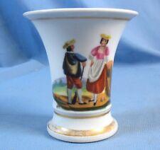 Intéressant Vase Diabolo Peint d'époque RESTAURATION (1814-1830)