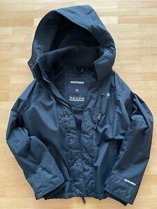 Abercrombie & Fitch Herrenjacke Regenjacke mit Kapuze Größe XXL dunkelblau