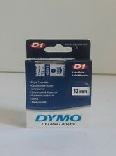 "NEW Genuine DYMO D1 45014 Blue on White Label Cassette 1/2"" x 23' OME Authentic"