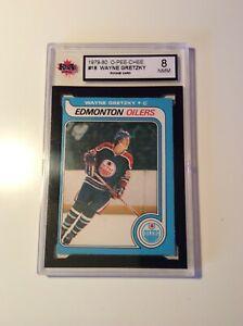 1979-80 OPC #18 Wayne Gretzky Rookie Card KSA 8 NMM