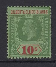 GILBERT & ELLICE Islands GV 10/ green and red - mounted mint