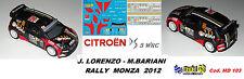 CITROEN DS3  WRC - J.LORENZO   - Rally  MONZA   2012