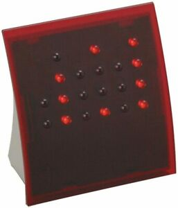 NEW - Anelace - Powers of 2 Binary Code Clock Classic Red w/ Red Lights