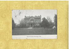 MA Williamstown 1901-07 PMC Private Mailing Card SIGMA PHI HOUSE MASS to VT