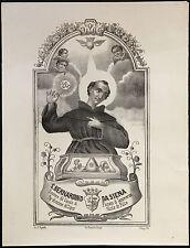 santino stampa popolare 1800 S.BERNARDINO DA SIENA in FISCIANO