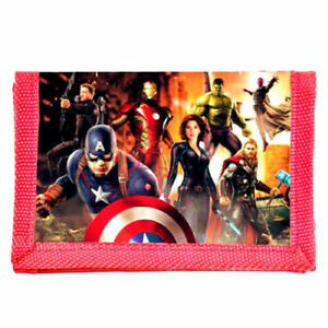 Marvel Avengers Captain America Iron Man Thor Tri-fold Coin Wallet Boy Girls Kid