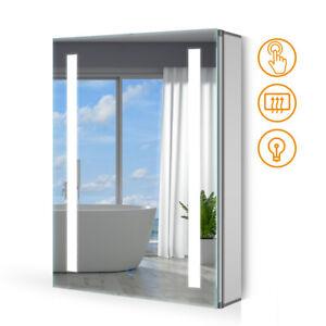 LED Spiegelschrank Badezimmerspiegel Badschrank Touch-schalter Demister 50x70cm