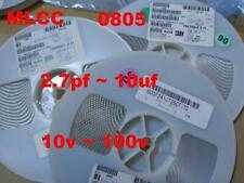 250PCS  0805 MLCC ( metric: 2.0x1.2mm ) Branded 2.7pf ~ 22uf  Voltage<100V