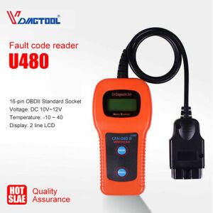 U480 Car Diagnostic Engine Scanner Auto Fault Code Reader CAN/OBD2/BUS Memo Tool