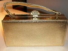 Vintage Gold Evening Purse - 1960's Clutch Handbag - Elegant