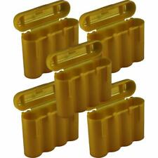 5 Brand New AA / AAA / CR123A Gold Battery Holder Storage Cases