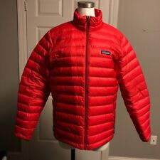 Pre-owned Patagonia Down Sweater Jacket Red Size Medium