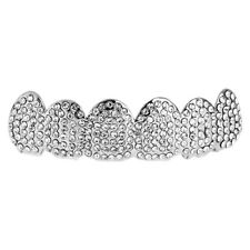 One Size Fits All Bling Grillz - ICED OUT TOP - Silber