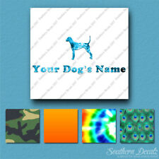Custom Plott Hound Dog Name Decal Sticker - 25 Printed Fills - 6 Fonts