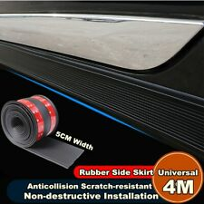 Black Car Body Side Skirts Strip Scuff Plate Door Sill Decorative Strip 4M