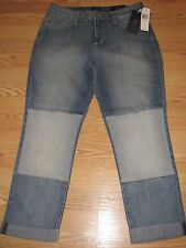 NWT $140 NYDJ Not Your Daughters Jeans  Skinny Stretch Crop Jeans Size 8