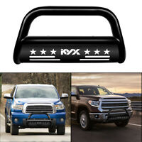 "KYX Bull Bar for 07-20 Toyota Tundra Sequoia Pickup Truck 3"" Front Bumper Black"