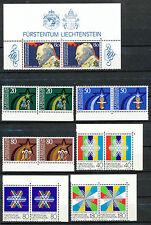 Liechtenstein  830 - 836 postfrisse paren