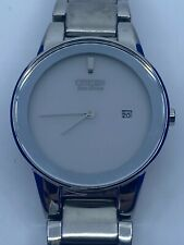 CITIZEN Axiom Eco-Drive Silver Dial Stainless Steel Ladies Watch GA1050-51A