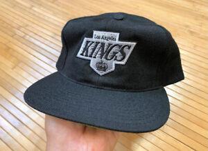 VTG 90's LA Kings American Needle Snapback Hat Wool script Sharktooth Blockhead